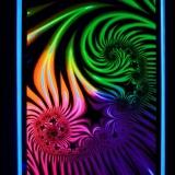 """UV Schwarzlicht Poster """"Fractal"""" 58x89cm"""