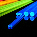 5mm Schwarzlicht Acrylglas - LISA Rundstab 1m Blau