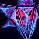 """Schwarzlicht 3D Stringart Deko 130x110cm """"Pink Shadow"""""""