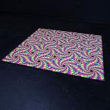 """Psywork Schwarzlicht Fluo Neon Teppich """"Peripheral Drift"""""""