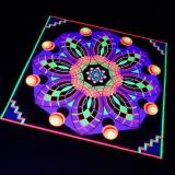 """Psywork Schwarzlicht Fluo Neon Teppich """"Mandala I"""""""