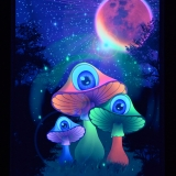 PSYWORK-Schwarzlicht-Stoffposter-Neon-Redmoon-Mushrooms-05x07m__59754742_01