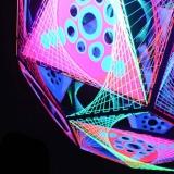 String Art Deko Kugel Glowing Globe Fotoshooting Hetzdorfer Viadukt