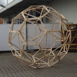 String Art Deko Kugel Glowing Globe Making Of