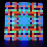"""Schwarzlicht Psywork Psy Pixel """"Neon Square"""""""