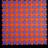 """Schwarzlicht Psywork Psy Pixel """"Orange Patchwork"""""""