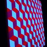 "Schwarzlicht Psywork Psy Pixel ""3D Cube Pink"""
