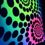 """Psywork Schwarzlicht Goa Segel Spandex """"Spirals made of Dots"""""""
