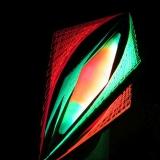"""Schwarzlicht Psywork 3D String Art Deko Raute """"Neon Cone"""""""