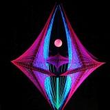 """Schwarzlicht Psywork 3D String Art Deko Raute """"Night Out"""""""