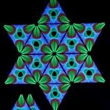 """Schwarzlicht Psywork StringArt Deko Dreieck - Mind Change System """"Lotos Mutation Triangle"""""""