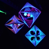 "3D String Art Deko Oktaeder ""Green Shadow"""