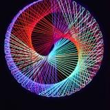 """Schwarzlicht Psywork Stringart Spirale """"Neon Multivitamin"""""""