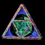 """Schwarzlicht Psywork String Art Deko Psy Pyramid """"Deep Journey One"""""""