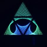 """Schwarzlicht Psywork StringArt Deko Dreieck - Mind Change System """"Little Star Triangle"""""""