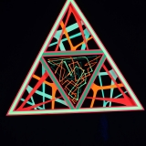 """StringArt Deko Dreieck - Mind Change System """"Random Wired Triangle"""""""