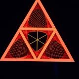 """StringArt Deko Dreieck - Mind Change System """"Red Triplex Triangle"""""""