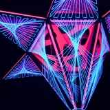 "3D Stringart Deko 130x110cm ""Pink Shadow"""