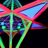"3D Stringart Deko 130x110cm ""Neon Flower"""