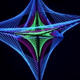 "3D Stringart Deko 125x125cm ""Neon Space Star"""