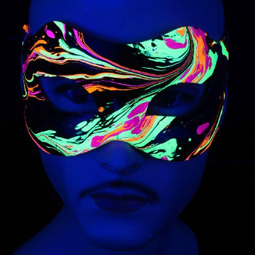 PSYWORK Schwarzlicht Augenmaske Clementine Dark Ambient