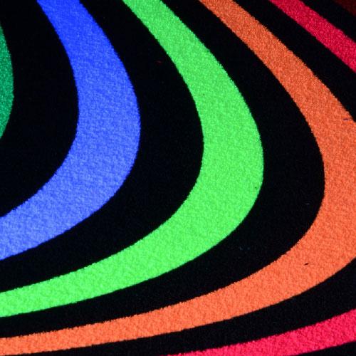 Schwarzlicht Fluo Neon Teppich