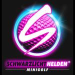 Logo Schwarzlichthelden Minigolf Mainz